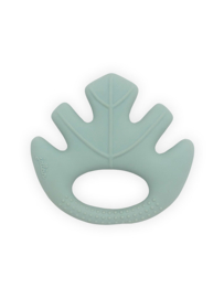 Bijtring Leaves - Ash Green - 100% natuurlijk rubber
