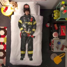 Snurk dekbedovertrek brandweerman / flanel