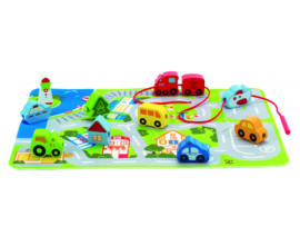 Hape-Busy city Play set rijgen