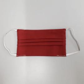 PRE-ORDER Wasbaar katoenen mondkapje (bordeau rood)