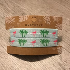 Haarelastiek/armbandjes palmbomen