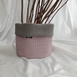 Commode mandje(s) oud roze/taupe