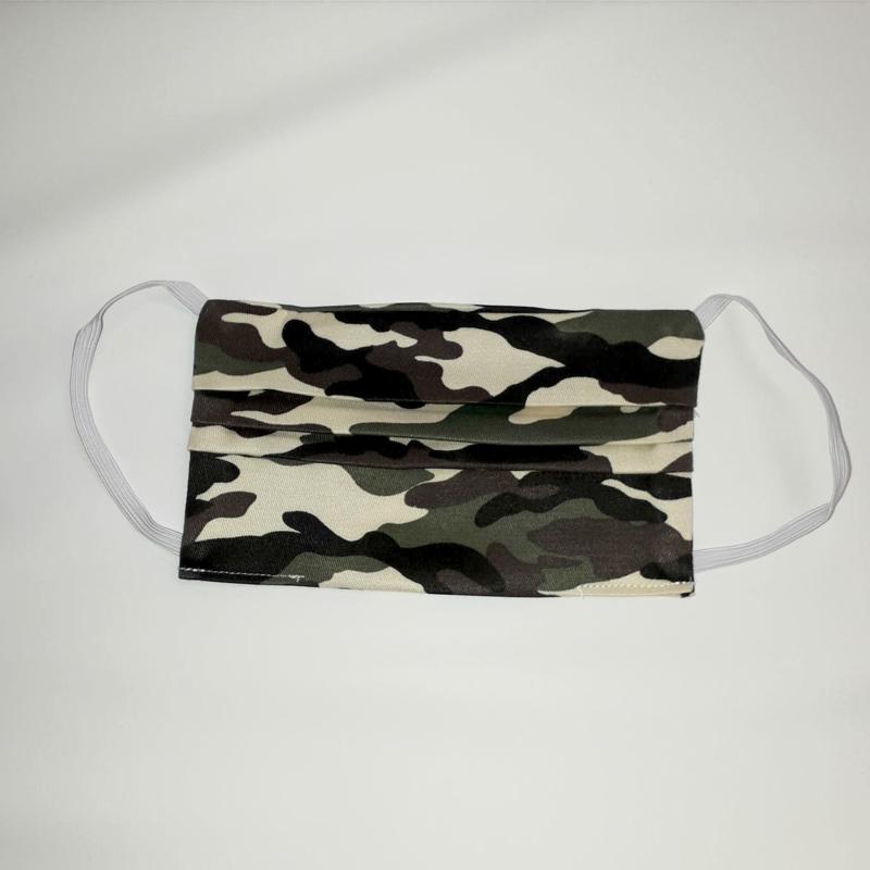 PRE-ORDER Wasbaar katoenen mondkapje (leger)