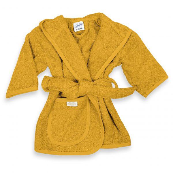 Baby badjas 0-1 jaar Okergeel