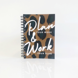 Planner Plan Your Work Leopard A
