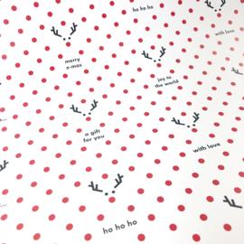 20 x Cadeaupapier Kerst (42 x 59,4 cm) + 50 labels + 50 sluitzegels