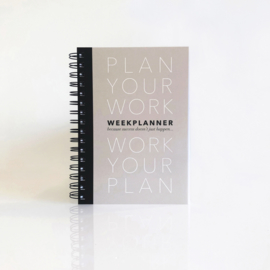 Plan Your Work A5 planner