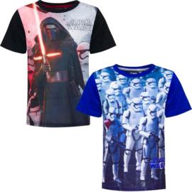 Disney  Star Wars t-shirt voor jongens 4 t/m 10 jaar Zwart / Blauw