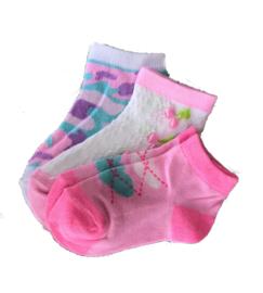 3-Pak RUINUR Kindersokken Roze - Sneaker Meisjessokken - antibacteriële sokken