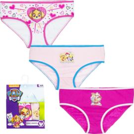 Paw Patrol meisjes ondergoed / set van 3 slips  - 2 t/m 8 jaar -  Roze/ Wit