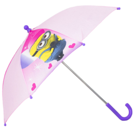 Minions meisjes paraplu - Despicable Me Minions - Kinderparaplu- Roze - 65 CM