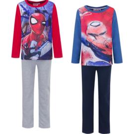 Fleece pyjama Spiderman  3 t/m 8 Jaar -  blauw / rood