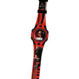 Disney Star Wars Digitaal Horloge 22 Cm Rood