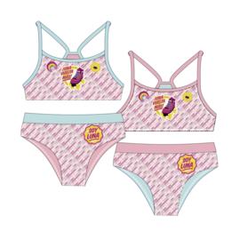 Soy Luna Bikini voor Meisjes 6 t/m 10 jaar - lichtblauw / roze
