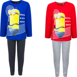 Minions pyjama - Disney - pyamaset - 3 t/m 8 Jaar -  blauw / rood