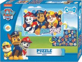Paw Patrol dubbelzijdige puzzel - Blauw - 50 stukjes – Legpuzzel