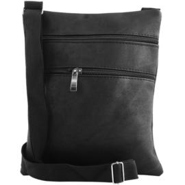 Modieuze schoudertas - Crossbodytas - Zwart