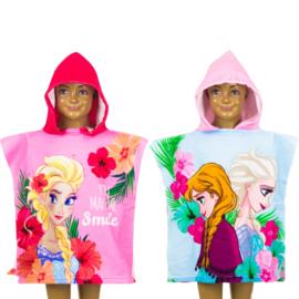 Frozen Elsa/Anna roze bad poncho capuchon - 50 x 100 cm - Sneldrogend