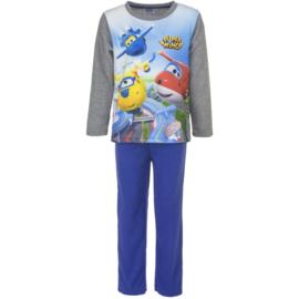 Pyjama Super Wings fleece   3 t/m 6 Jaar -  blauw / rood