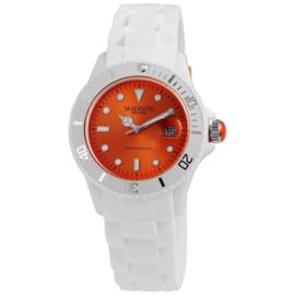 Madison, New York Unisex-Polshorloge Candy Time White Fashion Analoog quartz Siliconen U4359F1