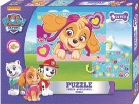 Paw Patrol dubbelzijdige puzzel - 24 stukjes – Legpuzzel