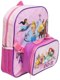 Princess Rugzak - Disney -met lunchbox 36 x 28 x 10 cm