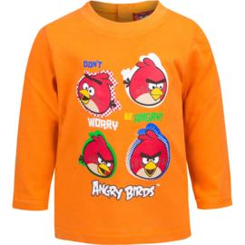 Angry Birds baby longsleeves 6 t/m 23 maand - Blauw / lichtblauw / Oranje