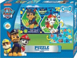 Paw Patrol Dubbelzijdige puzzel 99 stukjes