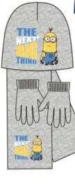 Minions muts met sjaal en handschoen