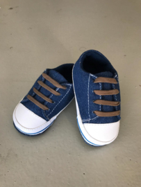 Donkerblauwe sneaker  - (0-15 maanden) - Baby schoentjes jongen