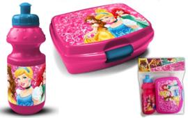Princess plastic fles met lunchbox