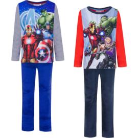 Pyjama Marvel Avengers  (Fleece ) 4 t/m 10Jaar -  blauw / rood