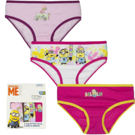 Despicable Me Minions 3 pack slips voor meisjes  - 2 t/m 8 jaar