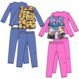 Minions pyjama - 3 t/m 8 -  Blauw / Roze