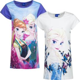 Frozen Disney nachthemd voor meisjes van 4 t/m 8 jaar Paars / wit