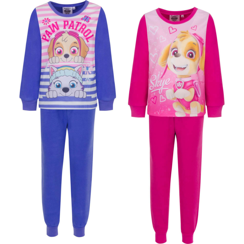 Nickelodeon Paw Patrol - Micro fleece - meisjes - peuter/kleuter/kinder - knuffelzachte - pyjama -   3 t/m 8 Jaar -  Roze/ rood
