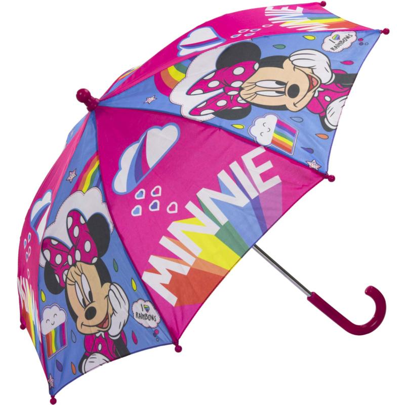 Disney Kinderparaplu Minnie Mouse Roze Meisjes 65 cm