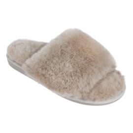 Fluffy Instapper Mano Beige
