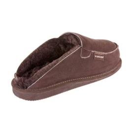 Heren pantoffel van Schapenvacht Bruin