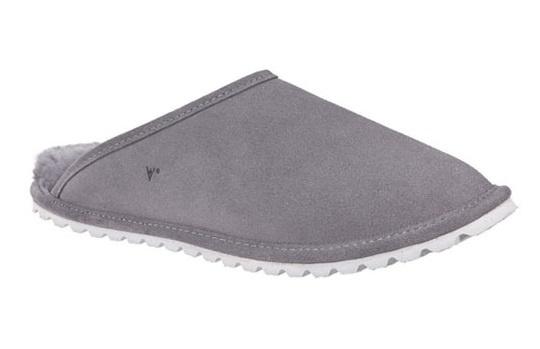 Leren heren pantoffel grijs