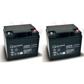 Q-Batteries 12V 50Ah vervangset scootmobiel