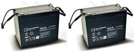 Q-Batteries 12V 77Ah vervangset scootmobiel