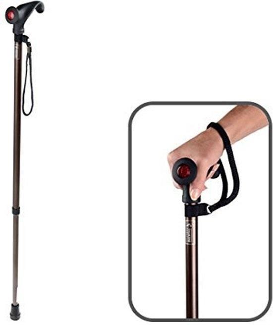 Luxe wandelstok met anatomische handgreep soft walk