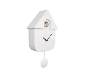 Wall clock Modern Cuckoo ABS white