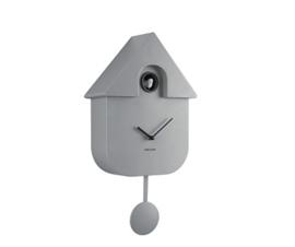 Wall clock Modern Cuckoo Mouse grey