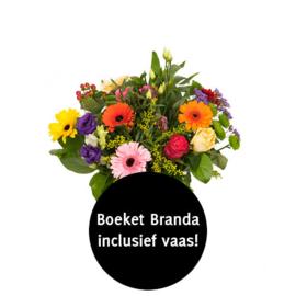 Boekett Branda inclusief vaas