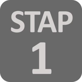 1e stap!