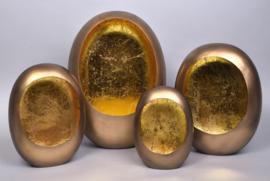 MARRAKECH S EGG T-LIGHT GOLD 17X9X24CM