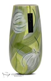 DELPHINE 3 VASE HAND GLAZED GREEN 17X35CM