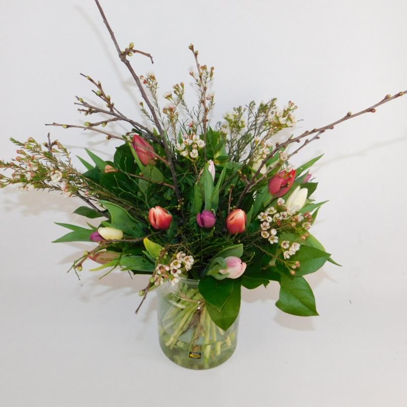 Tulpenboeket Mae  bont wild